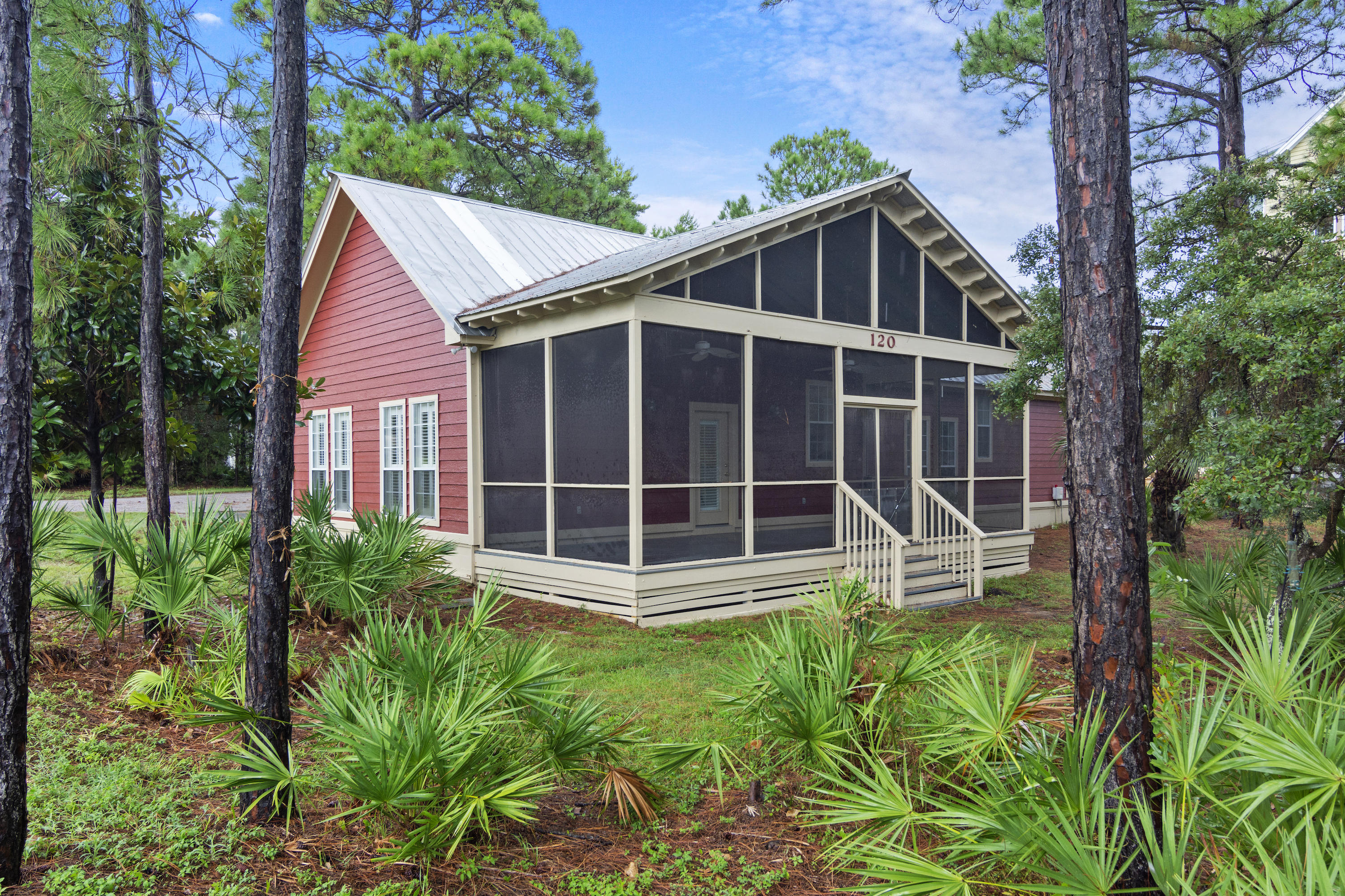 Are you looking for a place close to the water off of 30a with no HOA? And a 5 minute walk to the Stallworth lake access to the Gulf of Mexico. If so this is the property for you.  Great single story A frame home on a large corner lot, metal roof,  just off of 98 and 30A and within walking distance to Butler Elementary School.  Plantation Shutters on some of the windows, wood floors in bedrooms, large screen in porch (29x11) and large covered porch in the back. Open kitchen to the dining area and Living area.  Kitchen offers stainless steel appliances, granite countertops, new gas range and new refrigerator.  Breakfast bar over looks Living area and gorgeous stain glass in the kitchen.  New Cambria countertops in both bathrooms. Exterior has been recently painted.
