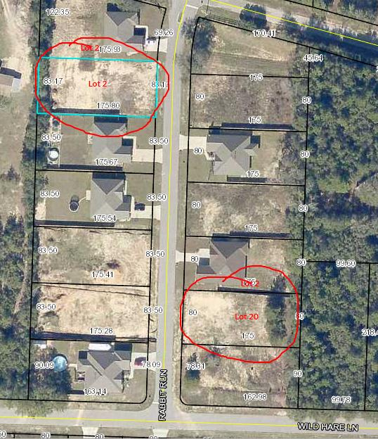 Photo of home for sale at Lot 2 Rabbit Run, Crestview FL