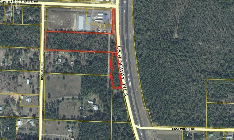High and Dry. 5.8 acres of Commercial with an addition 1 ac. that runs along Highway 331 to the south. This parcel is within 325 of the intersection of 331 and Coy Burgess Loop on the West side of 331. Within 1 mile of Hospital. Veterans Lodge going in across Highway 331. Water and Sewer. 1.5 mile south of I-10.. Owner will consider financing.  Listing consists of 2 parcel numbers. Second parcel is 15-2N-19-18050-00C-0011. Buyer to verify all information.