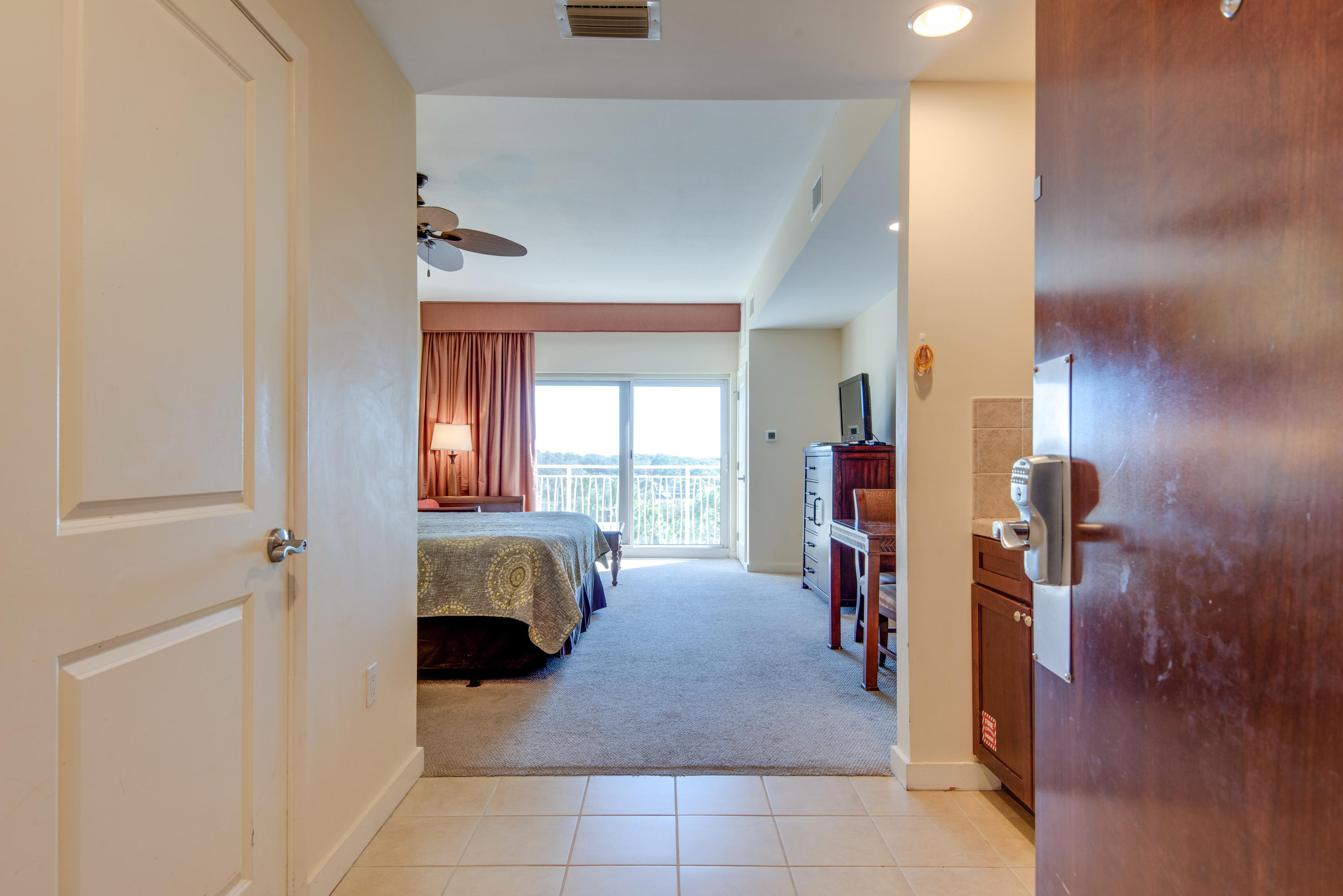 Located on the 3rd floor, this fully furnished studio condo features a kitchenette including a micro