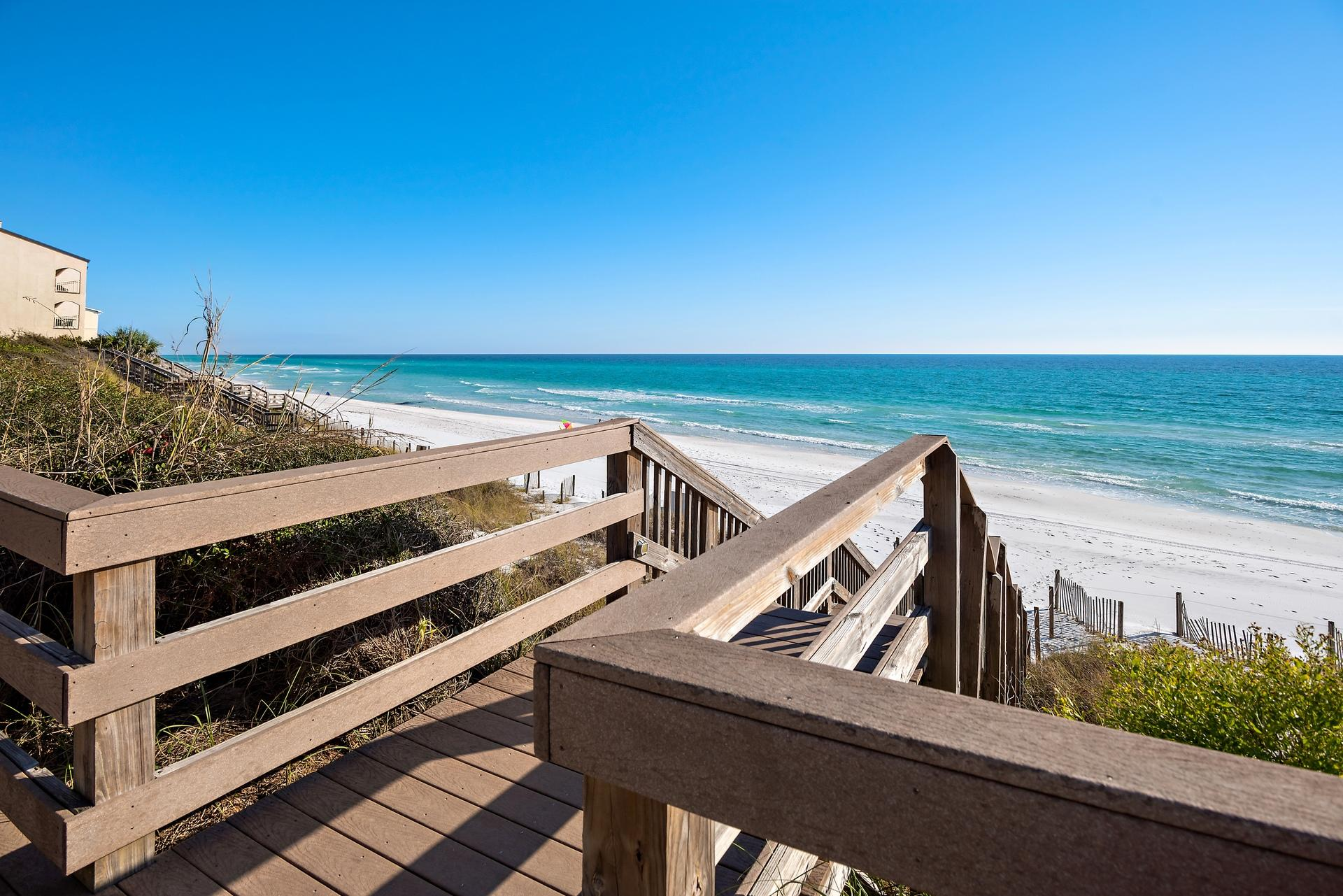 Beautiful GULF FRONT condo in PALMS AT SEAGROVE.  Perfect second home or rental investment property.