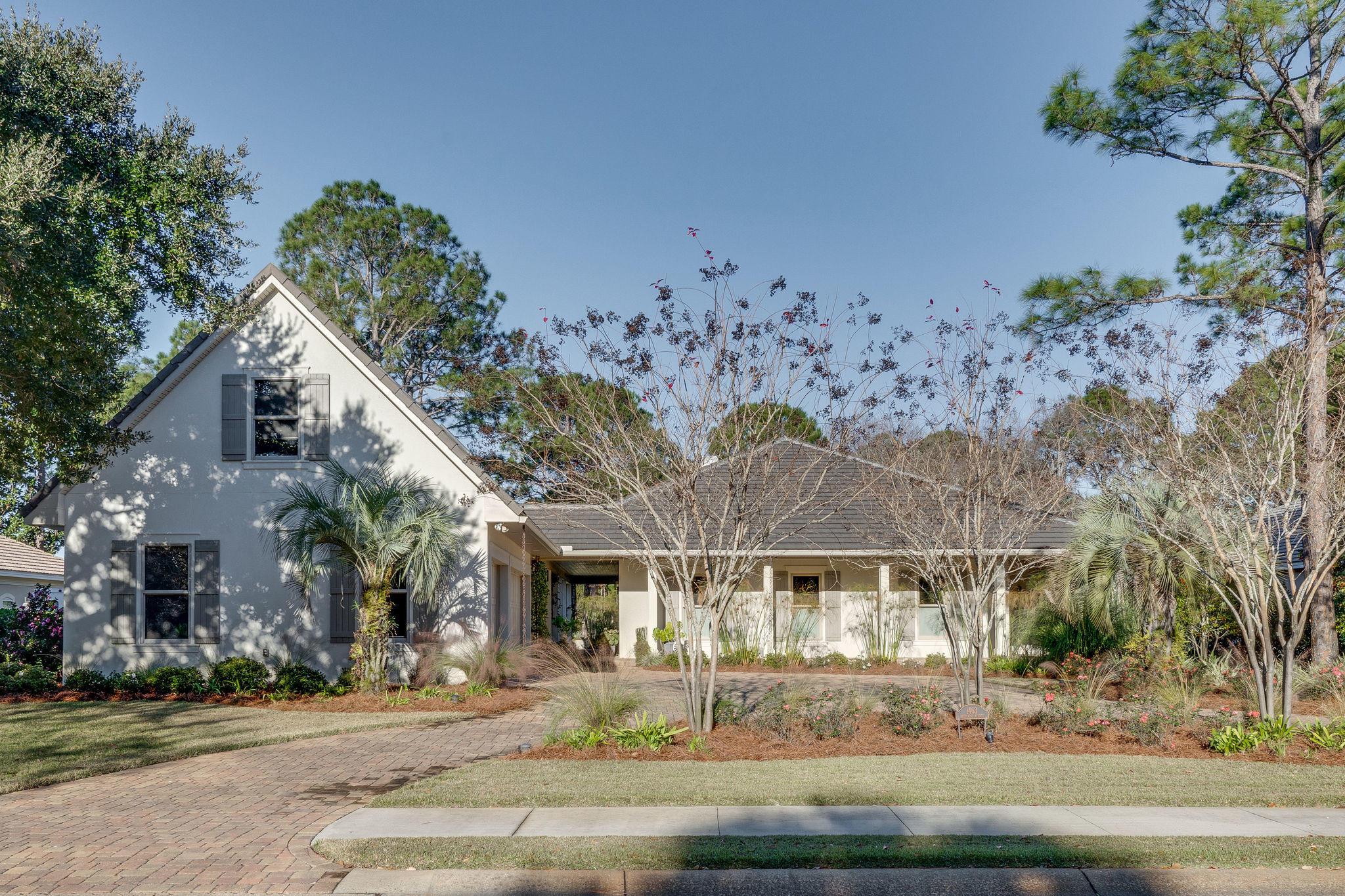 Definitely not cookie cutter this single level home offers a touch of New Orleans with access to a c