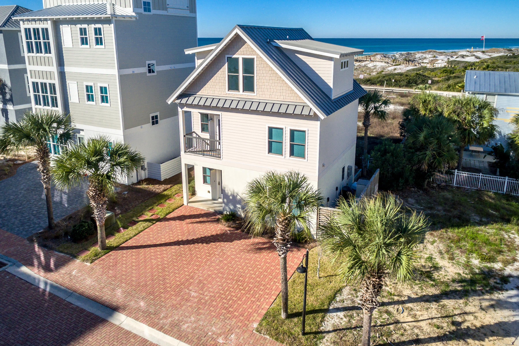 INCREDIBLE GULF VIEWS from all floors,  PRIVATE gated beach access just steps away, 189 feet of PRIV