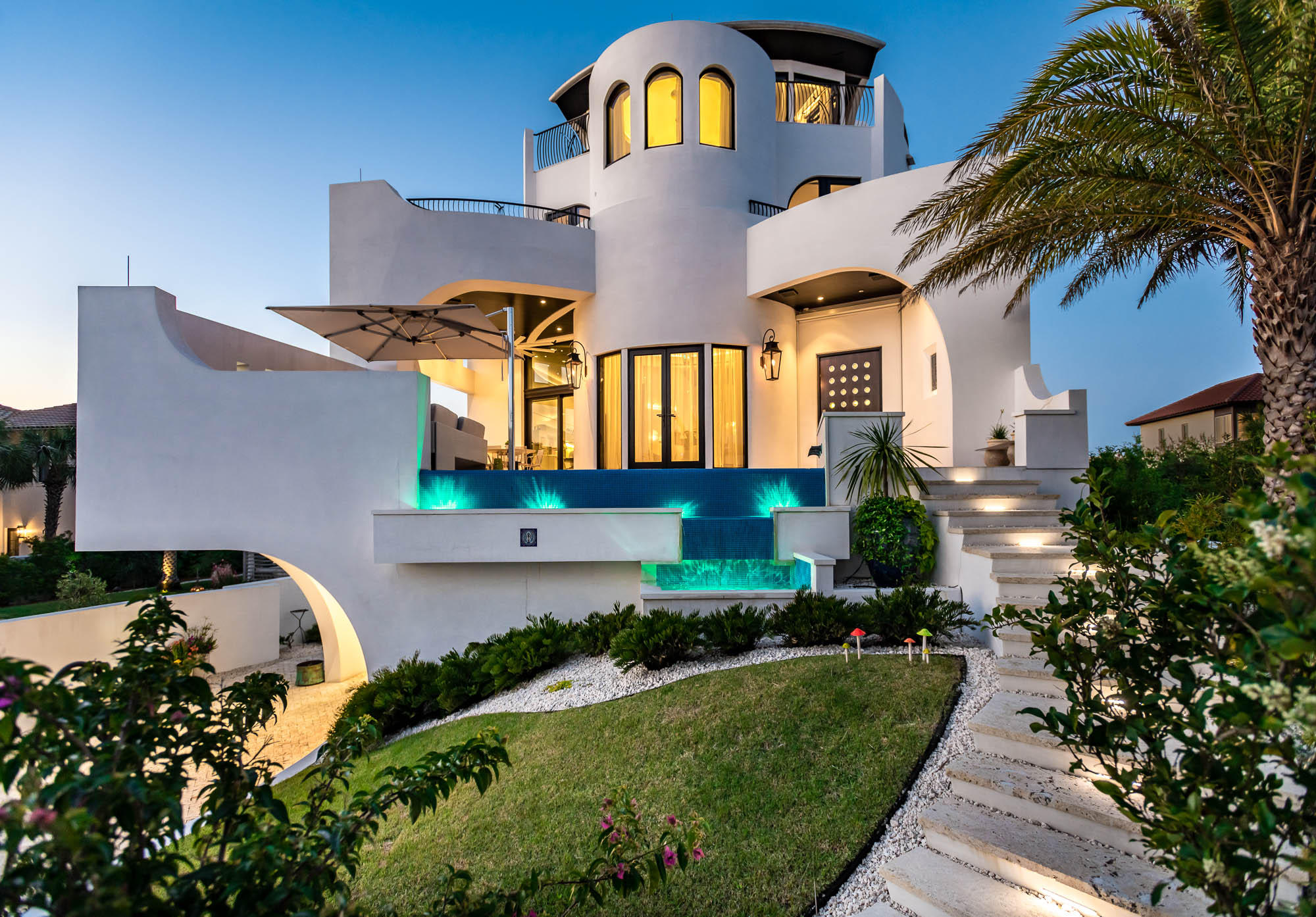 PRICE FOR HOME ONLY!  ''IL PARADISO'' is a beautiful CUSTOM architecturally designed home in a gated