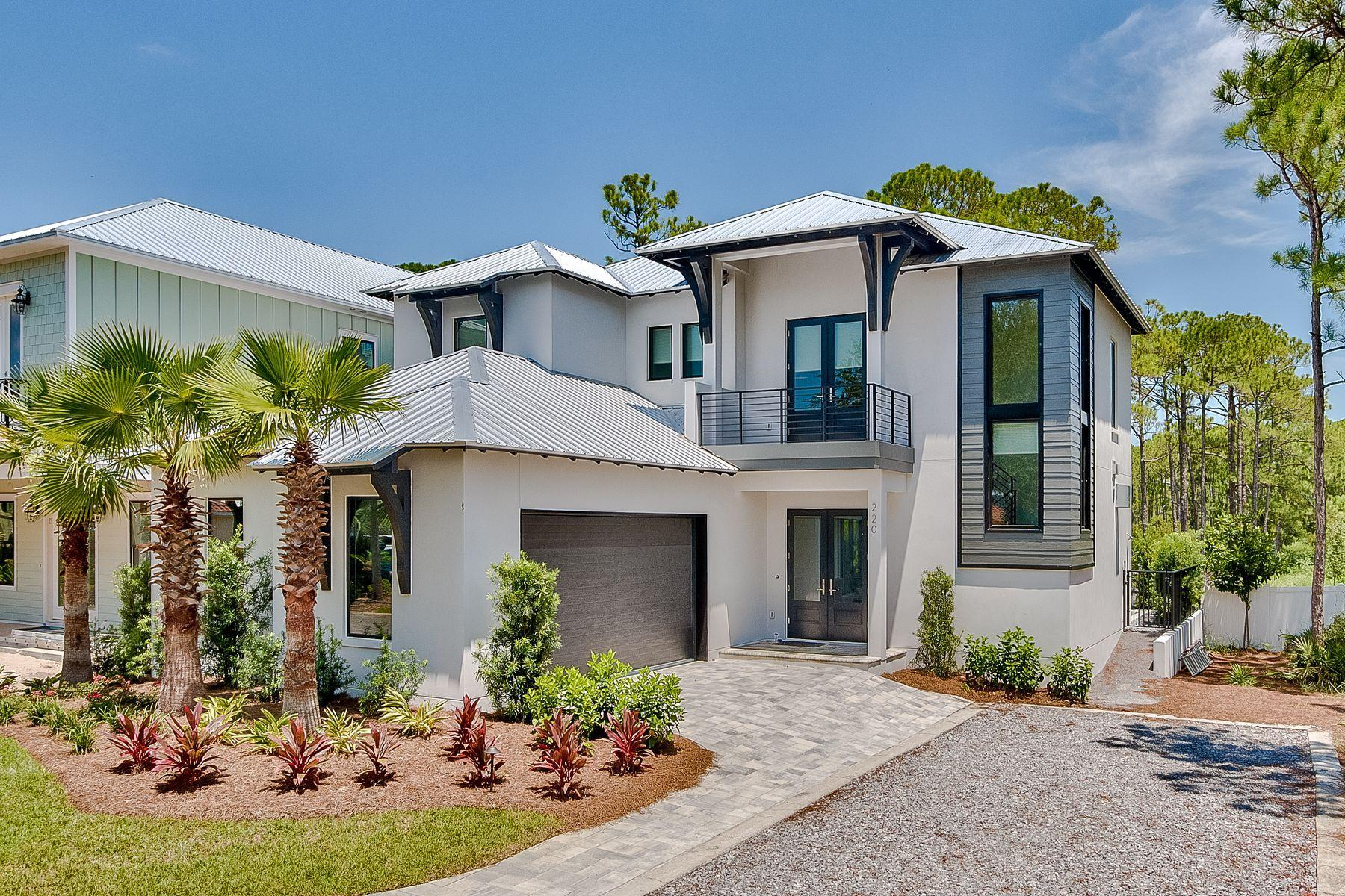 Exemplary new construction masterfully executed with precise attention to detail, this sleek five be
