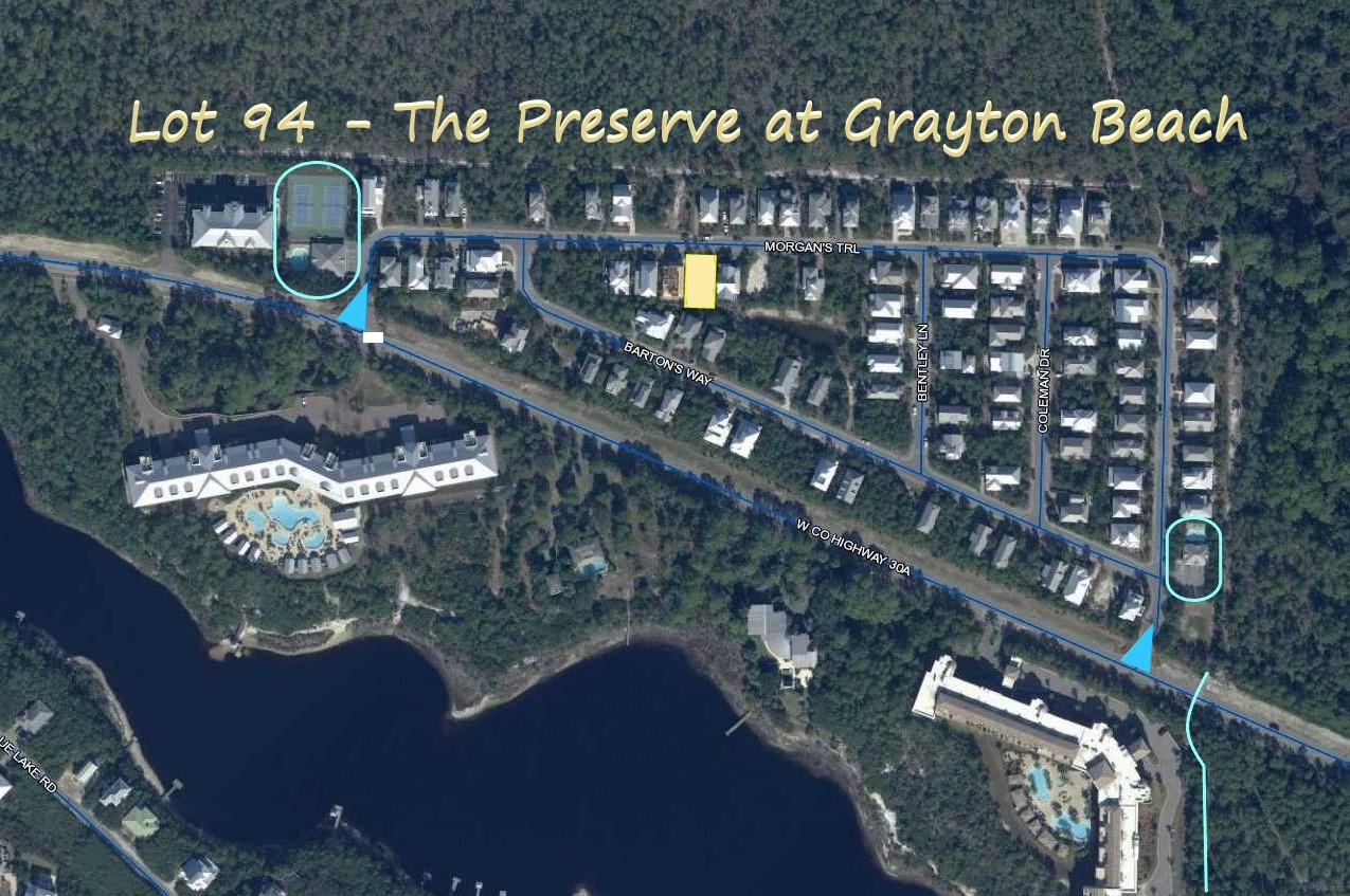 This vacant, residential lot provides a wonderful opportunity to build your beach home in The Preserve at Grayton Beach. This homesite is one of the few that backs up to a well-maintained community preservation area in the center of the community.  The Preserve at Grayton Beach is located directly on Scenic Highway 30A between Blue Mountain Beach and Grayton Beach and has convenient, gated, and deeded access to the Gulf of Mexico. The Preserve of Grayton is a beautiful place to build your second home, invest in your premium vacation rental property, or enjoy life on 30A as a full-time resident. The amenities and beach access make this an ideal location.  Call today to schedule your private appointment to view this residential homesite.
