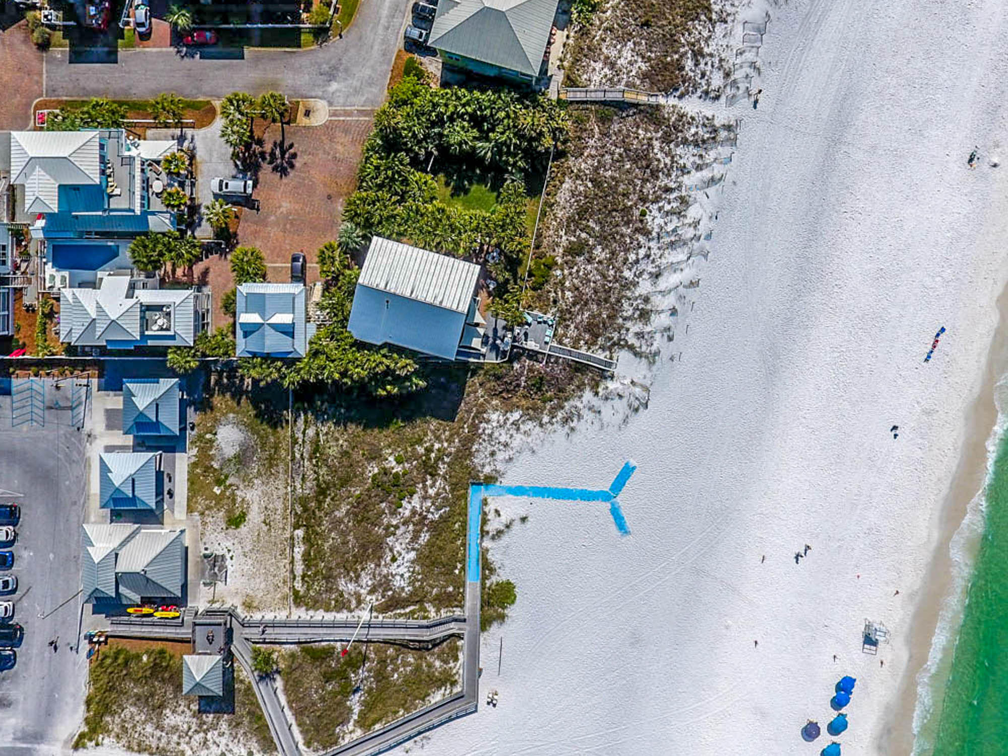 Extraordinary beach home with endless unobstructed Gulf views. Beach walkover outside the front door