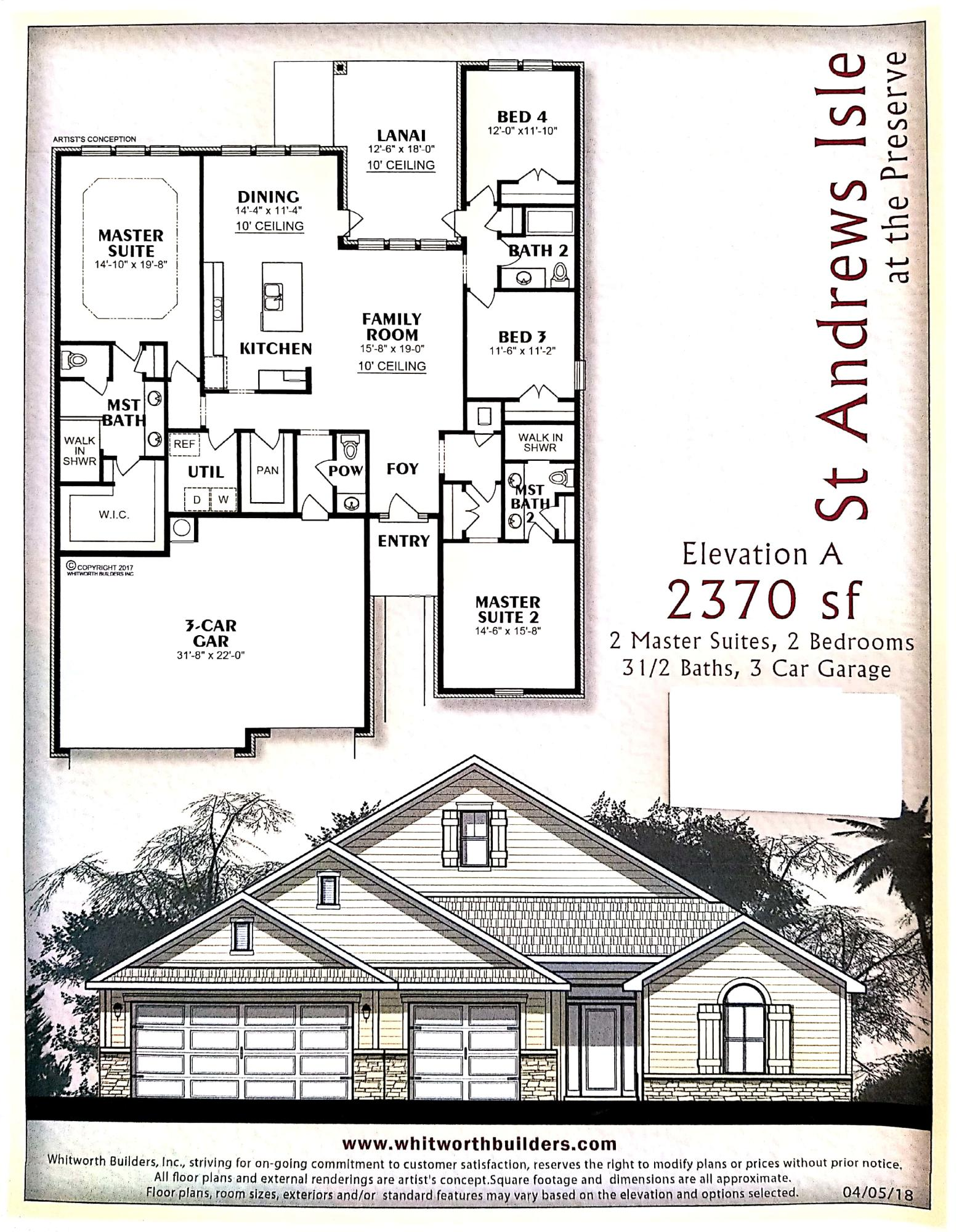 Photo of home for sale at 8153 Majestic Cypress Drive, Milton FL