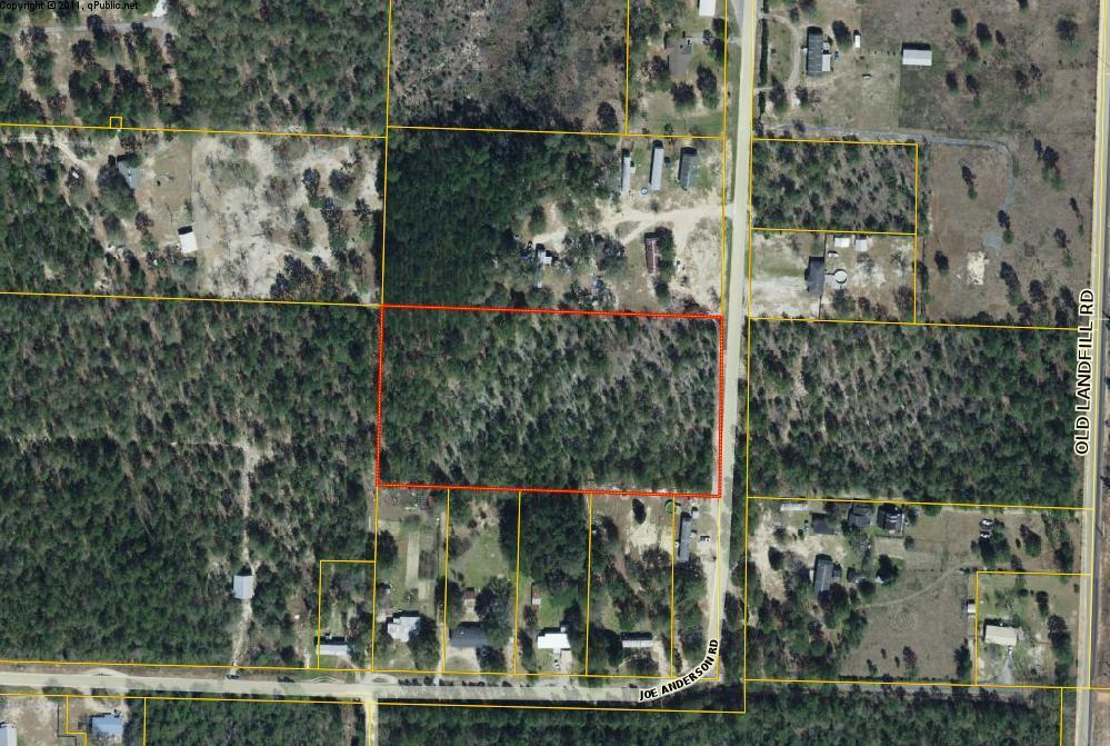 Photo of home for sale at 5 acres Joe Anderson Road, Defuniak Springs FL