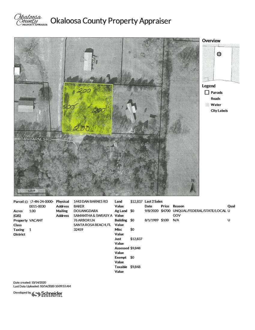 Photo of home for sale at 1443 Dan Barnes, Baker FL