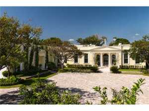 Stunning Lakefront Home! Clarence Macks former residence. Elegant 6 bedroom estate in perfect condition is now available. Totally restored, it boasts 118 +/- feet on the Intracoastal with exquisite views and a dock. Open and light from the moment you enter from the enormous entry courtyard, this one of a kind lives likes a compound with attached bedroom wings. The scale and details are superlative along with a 70 infinity pool and new Cabana with full kitchen and bathroom to entertain friends. The expansive master suite is on the main level and includes two luxury baths, sitting room and office. Impact windows/doors, new roof, and stunning landscaping enhance this beautifully designed Regency, located on Billionaires Row, close to the airport, shopping and the beach!