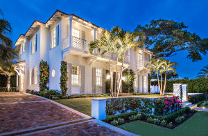 Exceptional new construction built by noted Palm Beach Builder, Tim Givens. Located at the coveted North End of Palm Beach. A Classic Palm Beach Monterey style best describes this gracious home. Residence features five bedrooms with oversized master suite. All bedrooms have bath en suites, large eat in kitchen with center island and top of the line appliances, covered loggia with fireplace. Numerous balconies in addition to a roof terrace off of the master suite, inviting pool cabana, large pool area with pool fountain surrounded by lush tropical landscaping, generator and an oversized 2 car garage.This residence has an open and flexible floor plan perfect for indoor and outdoor entertaining. Impeccable attention to details and highest end finishes.