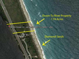 Land for Sale at 7820 S Ocean Drive 7820 S Ocean Drive Jensen Beach, Florida 34957 United States
