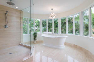 new claw tub with lake view