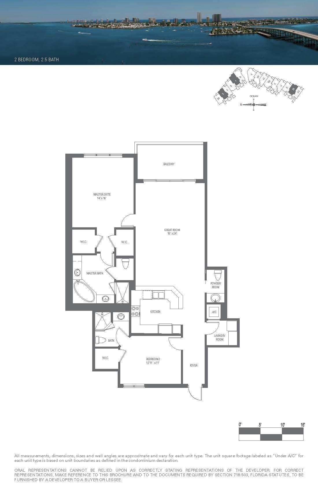 2650 Lake Shore Drive 1105, Riviera Beach, Florida 33404, 2 Bedrooms Bedrooms, ,2.1 BathroomsBathrooms,A,Condominium,Lake Shore,RX-10423002