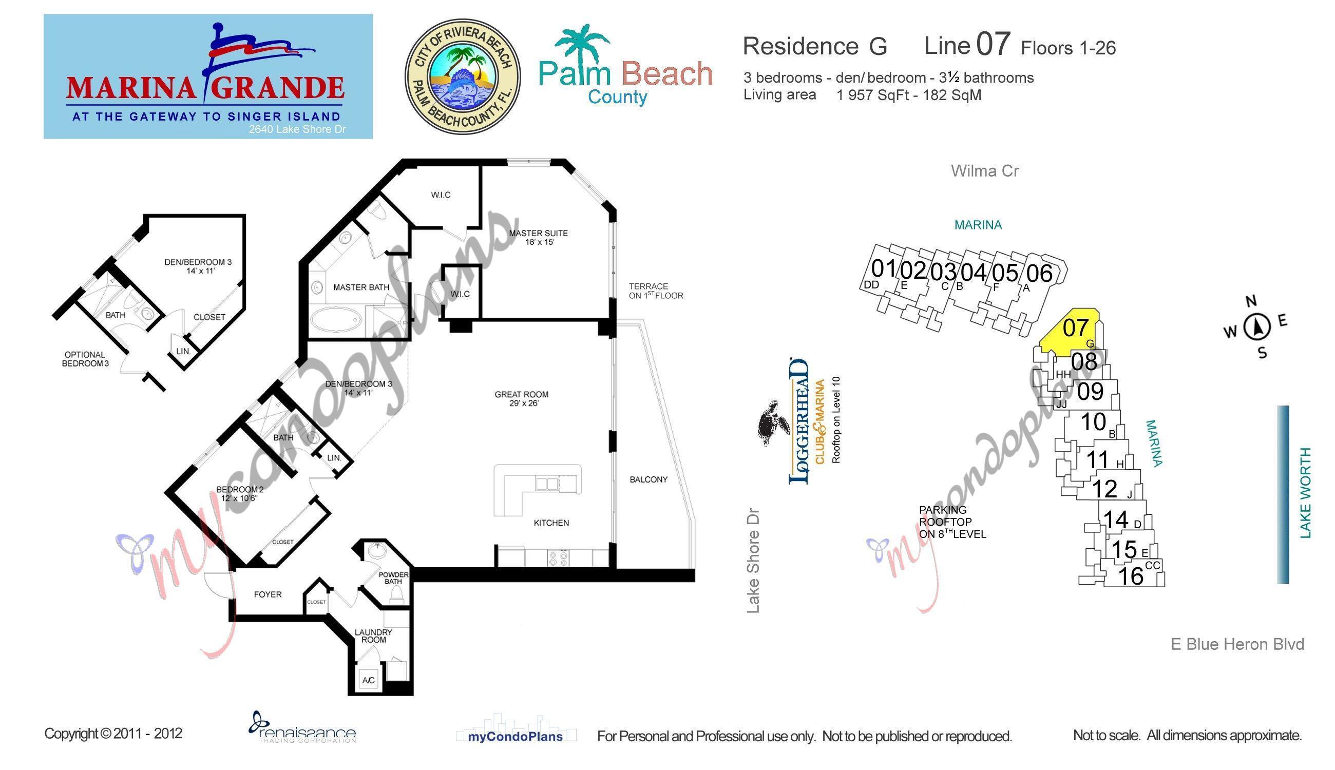 2640 Lake Shore Drive 1907, Riviera Beach, Florida 33404, 2 Bedrooms Bedrooms, ,2.1 BathroomsBathrooms,A,Condominium,Lake Shore,RX-10433410
