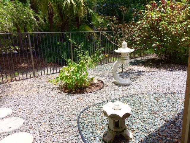 Rock garden in rear yard