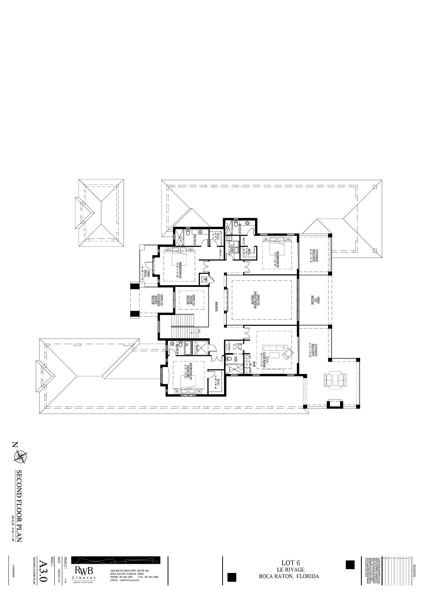 LOT 6 LE RIVAGE - A3.0 Second Floor Plan