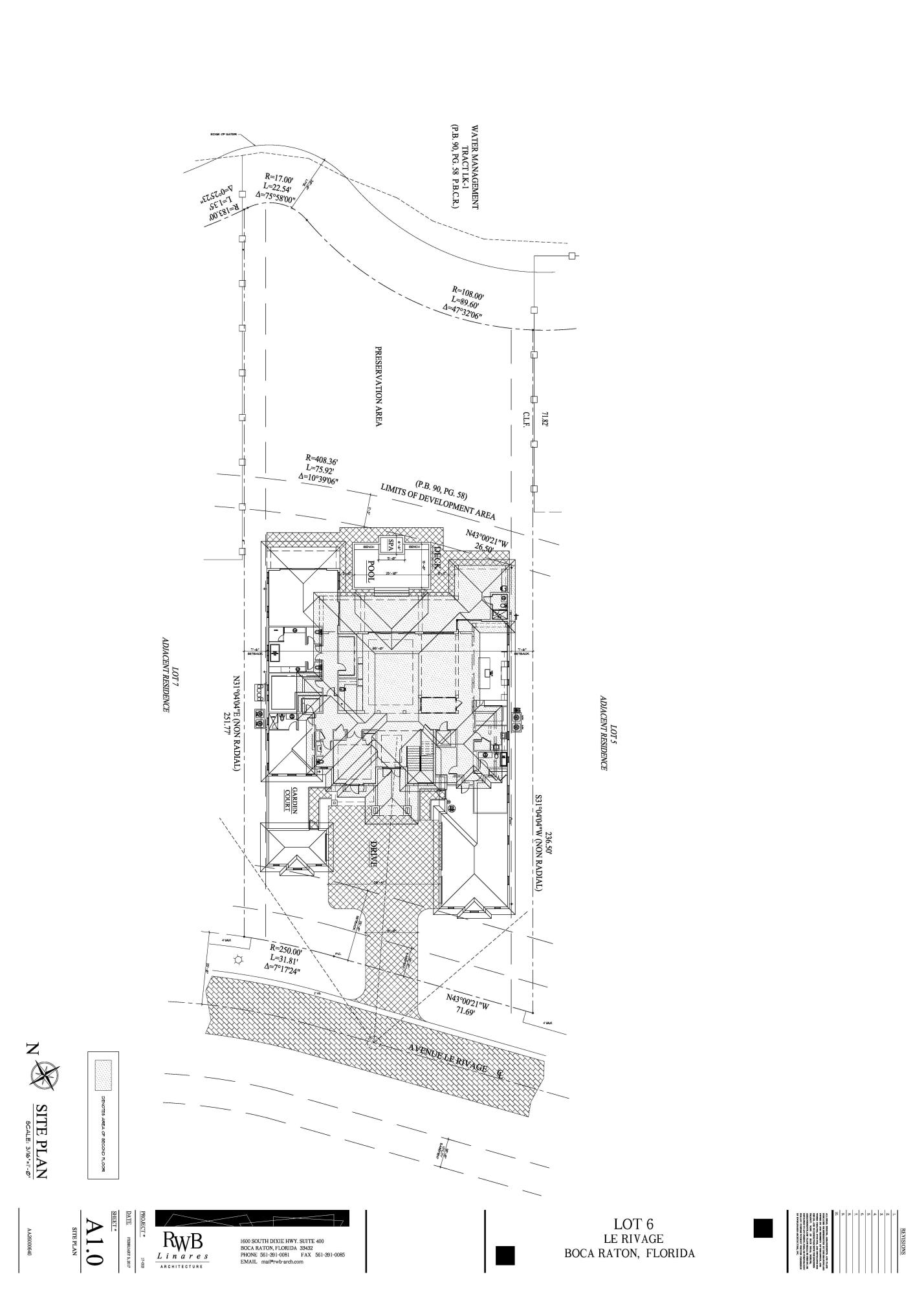 LOT 6 LE RIVAGE - A1.0 Site Plan