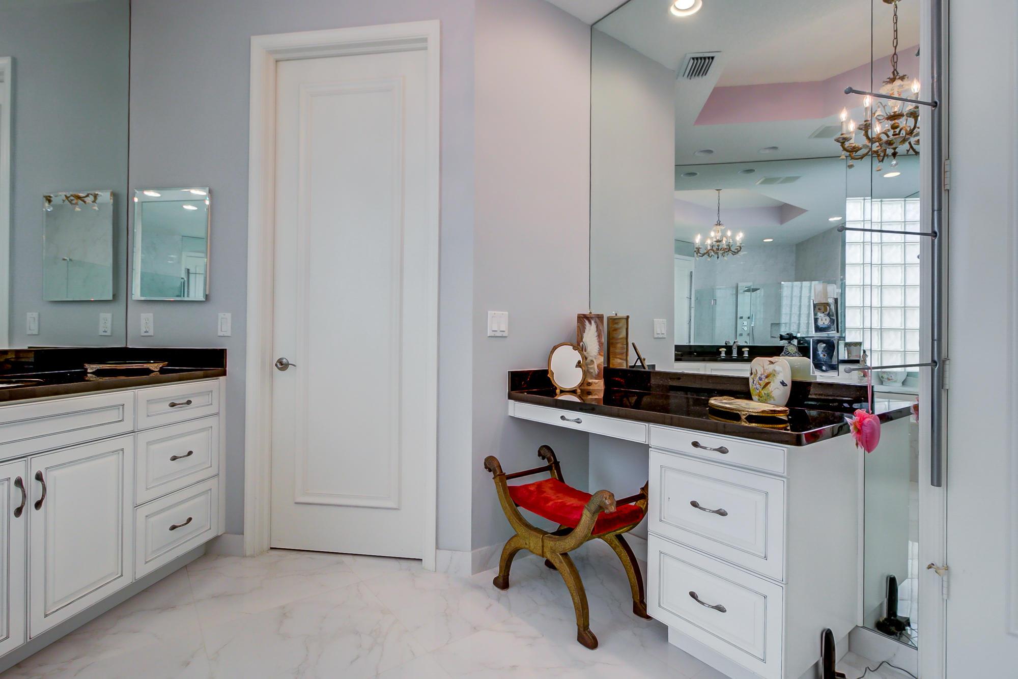 Master bath makeup table
