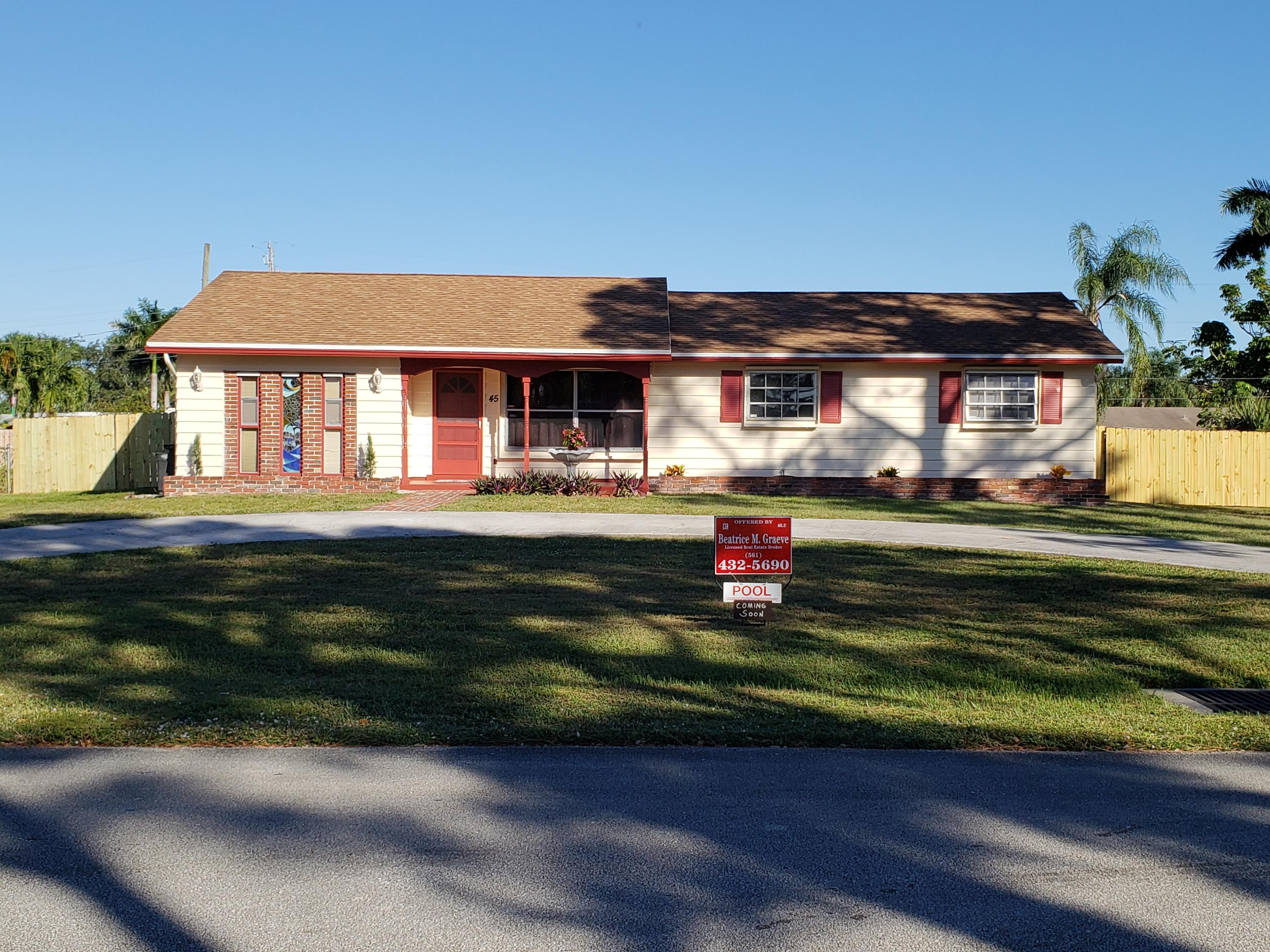 Home for sale in FLORIDA GARDENS 3 Lake Worth Florida