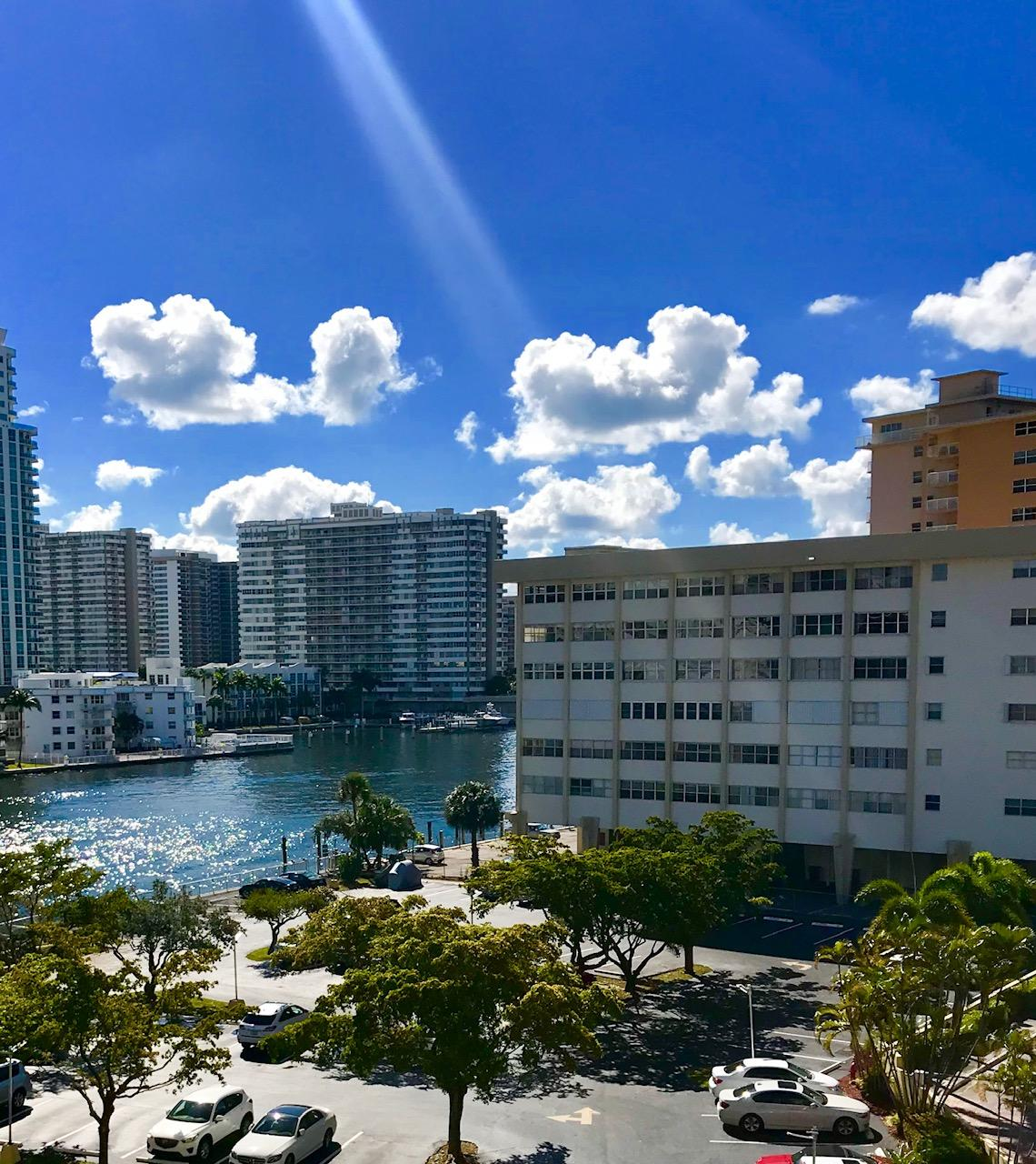 Photo of home for sale at 100 Golden Isles Drive, Hallandale Beach FL