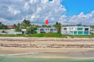 100 of direct oceanfront.  One of only nine such properties in the middle section of Palm Beach on the sand and exactly five houses North of Mar-a-Lago.All information is deemed reliable and subject to errors, omissions and change without notice.  All measurements are approximate.  Commission to be paid when clear title passes.