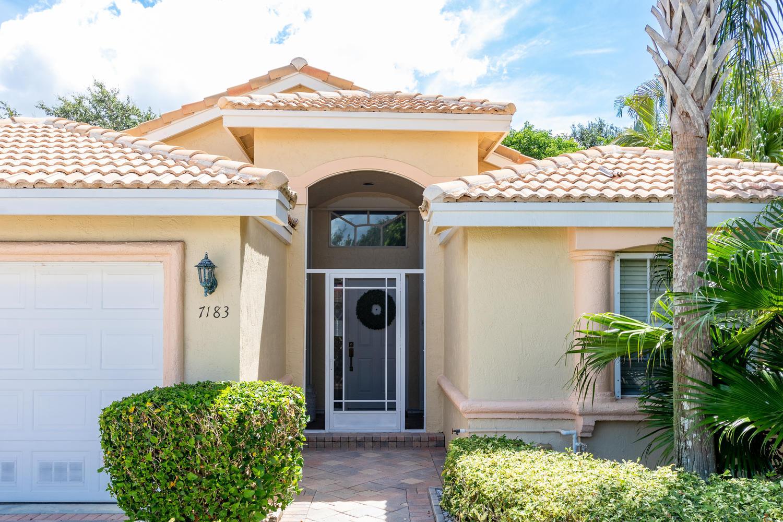 Photo of home for sale at 7183 Modena Drive, Boynton Beach FL