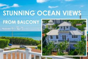 Panoramic Ocean Views from this 3 story Key West Style beach home steps away from the sand of Juno Beach! Rare opportunity to purchase a solid, 2004 built CBS beach home with impact doors & windows in prime location in Juno Beach & lots of gorgeous ocean views from 2nd & 3rd floor. This residence features open floor plan with plenty of natural light, crown molding, pickled hardwood flooring, Brazilian hardwood exterior decks & swap around patios. The open butcher-block island kitchen offers custom cabinetry, granite counters, SS appliances & stunning ocean views. Other features include surround sound & an over-sized garage large enough for 2 cars & plenty of storage for all your surfboards & beach gear. This home has been meticulously maintained by its owner, who recently updated