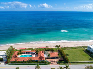 Trophy property in Palm Beach with 242 of ocean frontage. A rare opportunity to renovate and make your own beach compound.