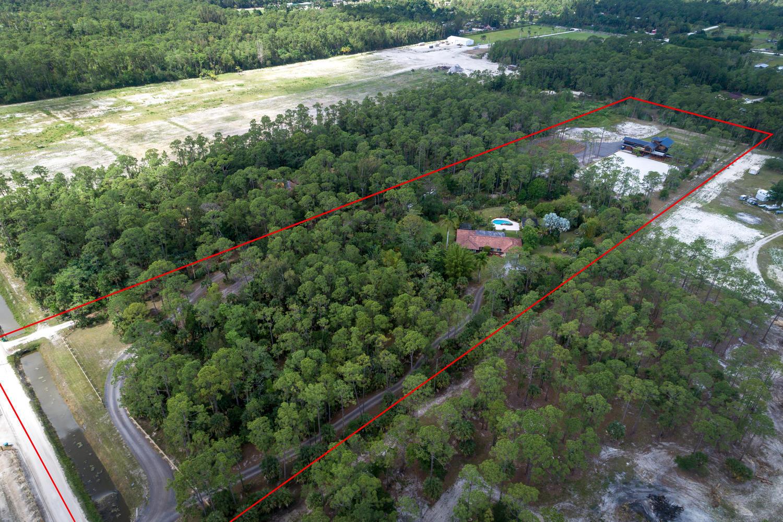 Aerial of full 10 acres