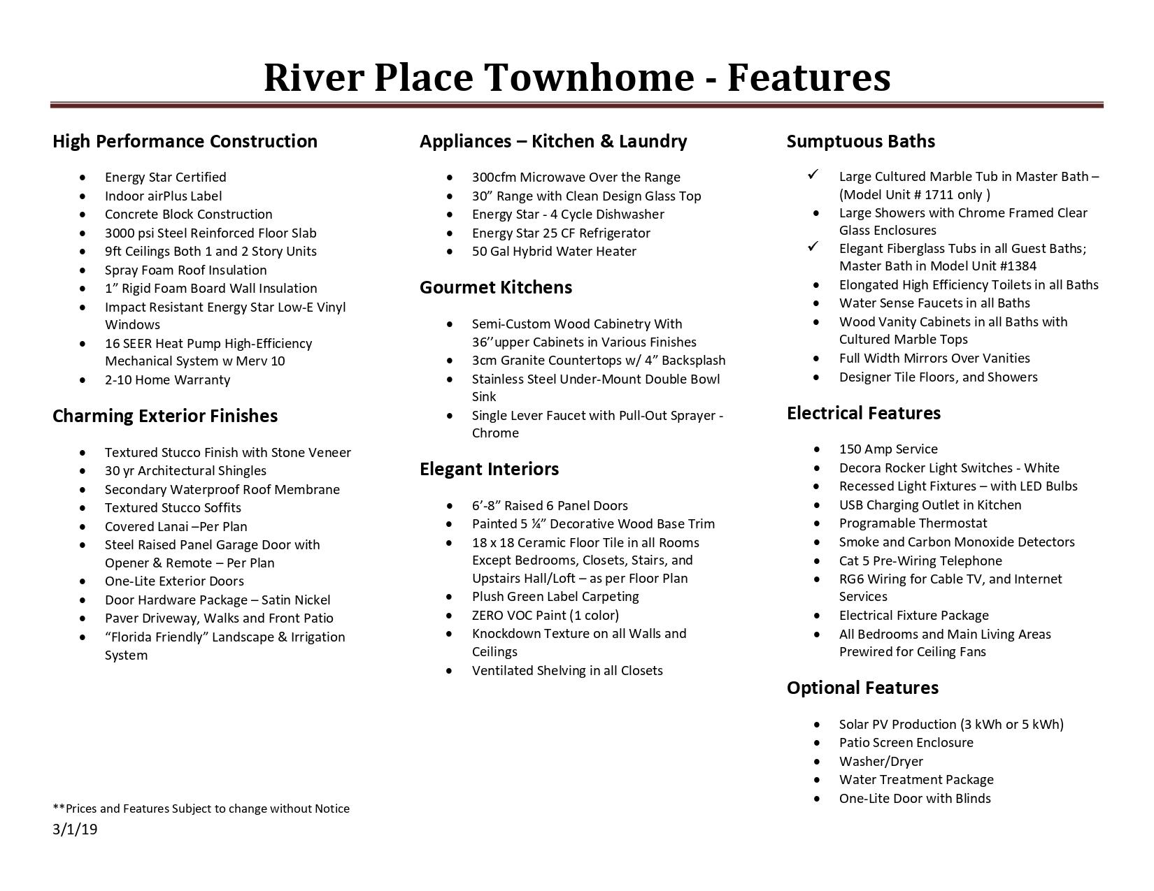 ECOVILLAGE RIVER PLACE REAL ESTATE