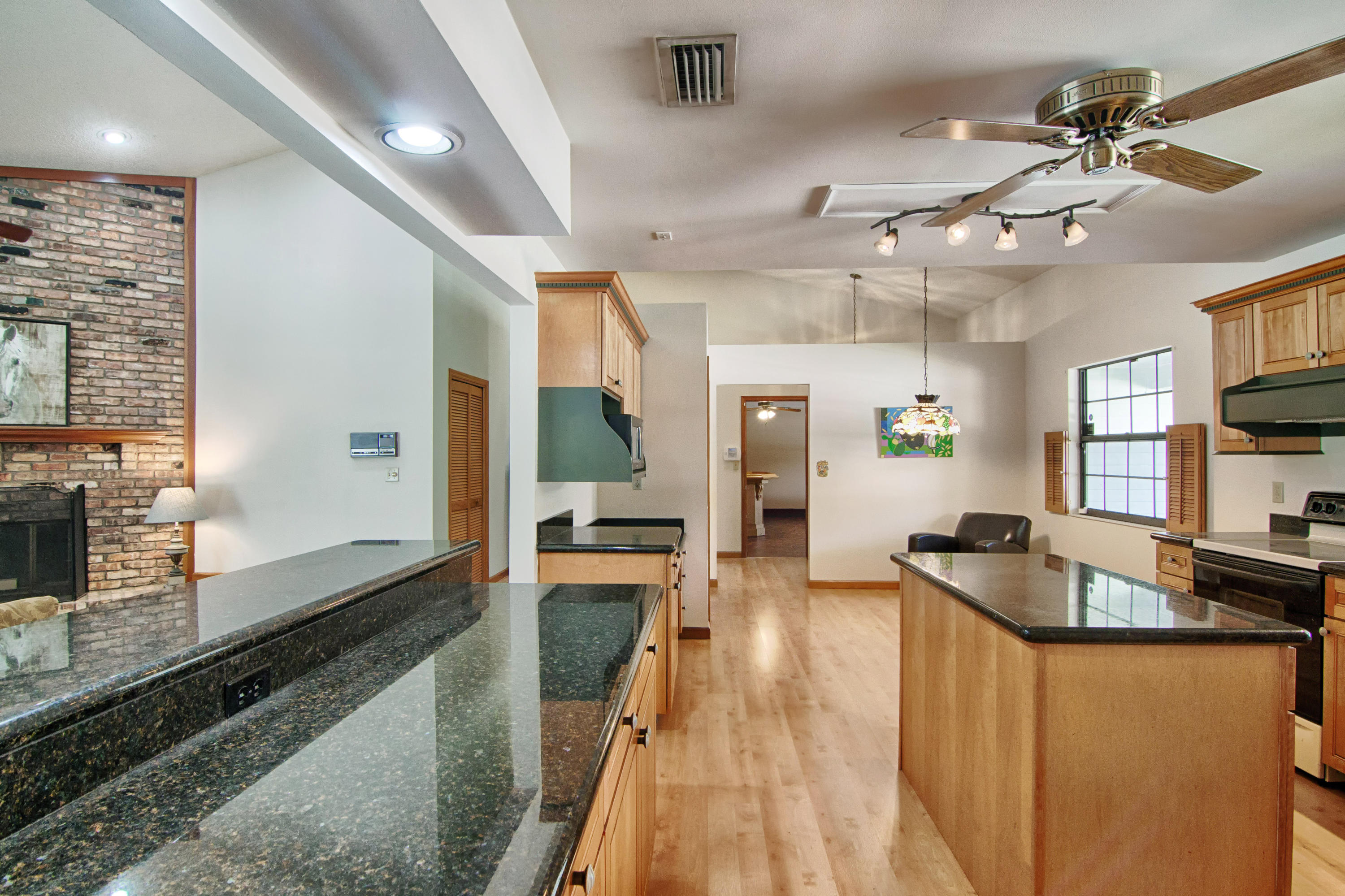 Convenient and oversized kitchen