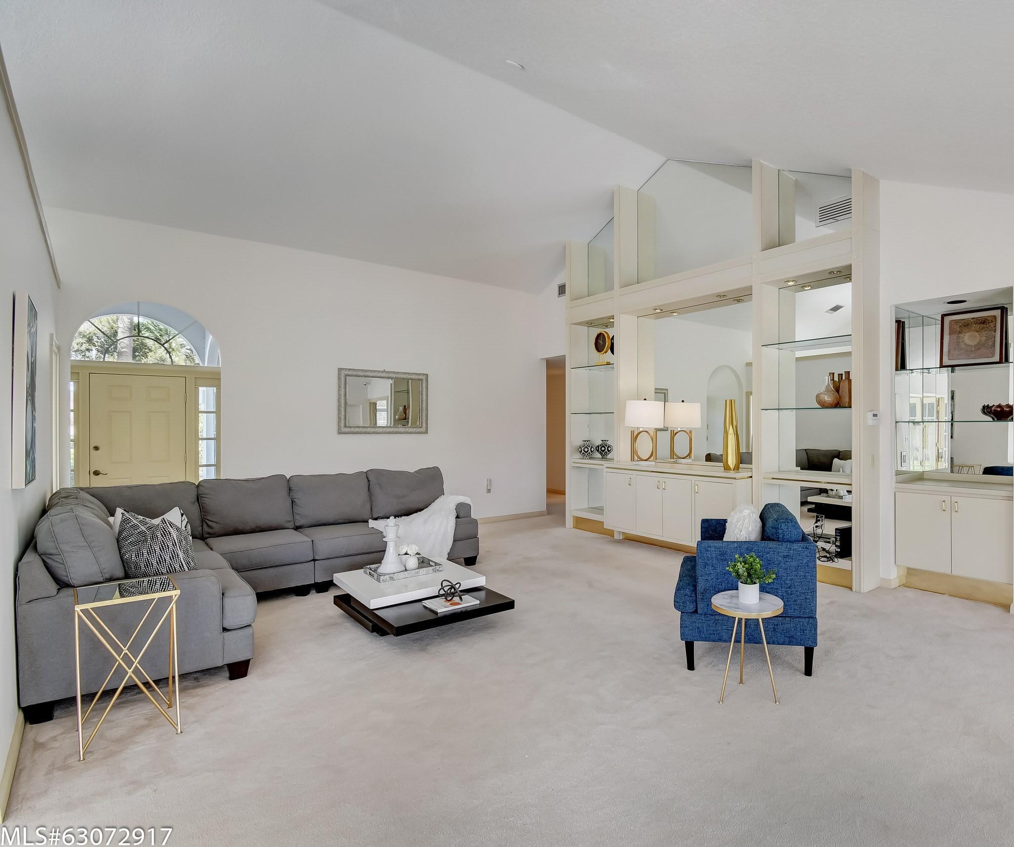 Living Room- Soaring 18 Ft. Ceilings