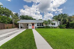 Wait until you see inside of this sparkling, renovated unique South of Southern (SOSO), East of Olive home set up for 2 families, in-laws, adult children or vacation rentals! Flexible floor plan is currently set up as a 3/2 with a separate 2/1 (own entrance & kitchen) but can easily be combined to make a 4/2 plus a 1/1, or simply a large 5/3.  Newer roof, A/C, impact windows & doors, kitchens, sprinkler system, landscaping & much more! Enormous lot (11,250 sq ft) with preferred North/South exposures, completely private, fenced yard & pool!  Walk to South Olive Elementary, water park, playground & tennis. Flagler bike path & Summa Intracoastal beach at end of the quiet tree-lined street with sidewalks! Short drive to beaches, restaurants, shopping, Palm Beach, Downtown, PBIA & I-95