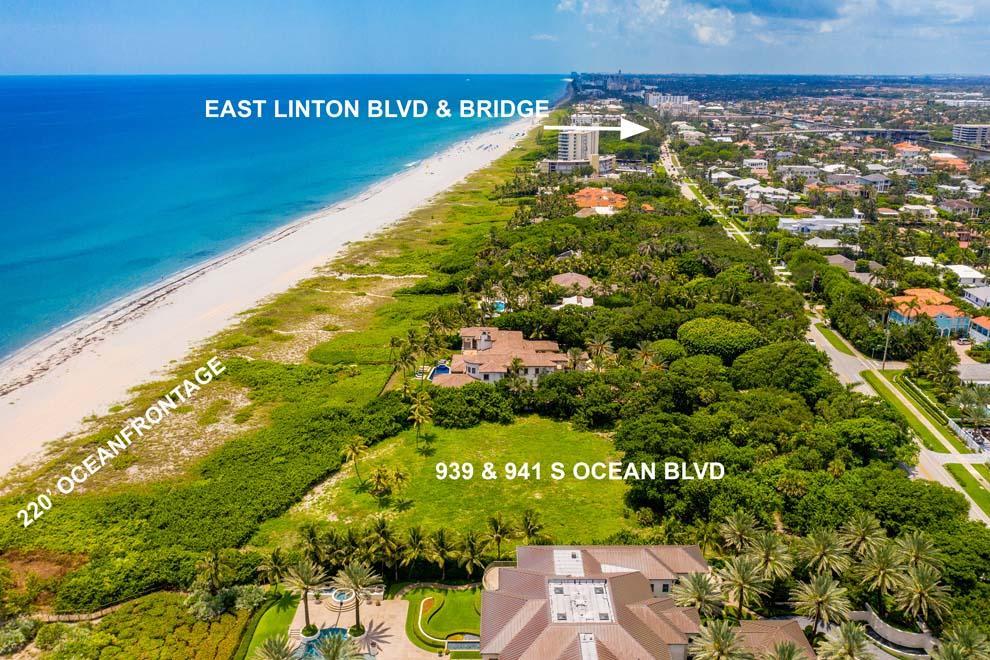 939 & 941 Ocean Boulevard, Delray Beach, Florida 33483, ,Land/Docks,for Sale,Ocean,RX-10645045, , , ,for Sale