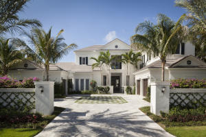 Built in 2014, this breathtaking home inside the pristine gates of Admirals Cove is truly one of a kind, with long water views in the back and golf and lake views in the front. As you enter through the front door, you are greeted by the light and airy, spacious living room that is perfect for entertaining guests or simply relaxing in your private oasis, enjoying the water view. The large kitchen includes marble countertops, two dishwashers, two ice makers, two refrigerators and freezers, 3 Wolf ovens, and a wine fridge. On the first floor, you will enjoy the convenience of a large master bedroom, which overlooks the pool and waterway. Enjoy the privacy of remote darkening shades or the bright, natural light.