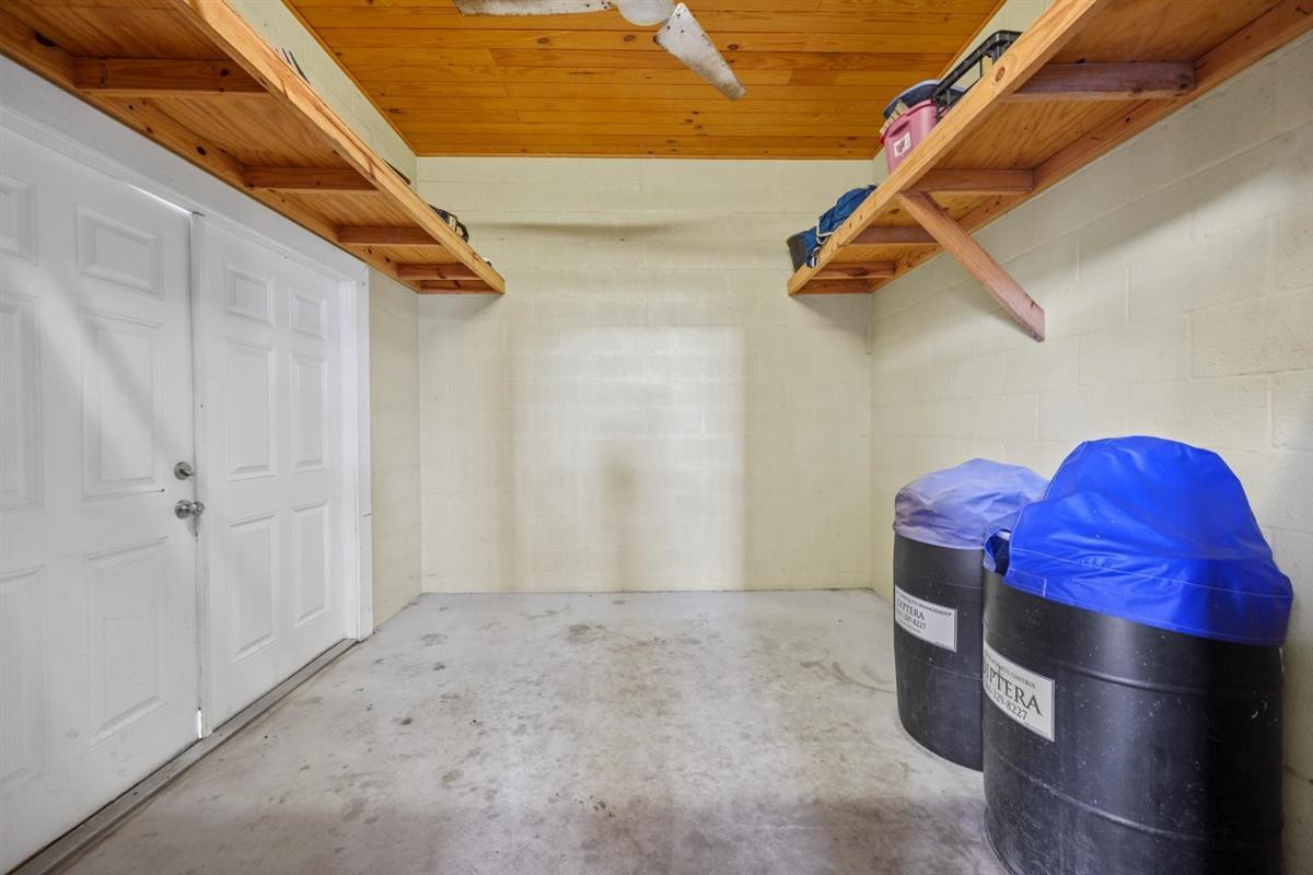 Feed room in 18-stall barn