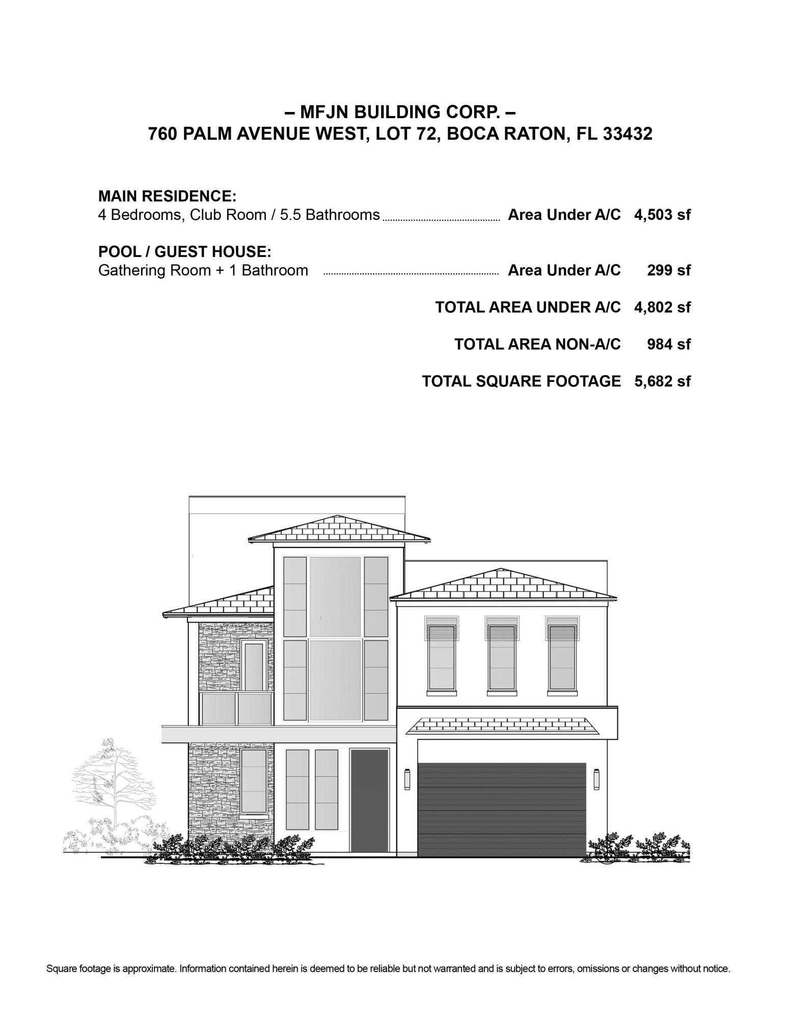 760 Palm Ave - Front Elevation