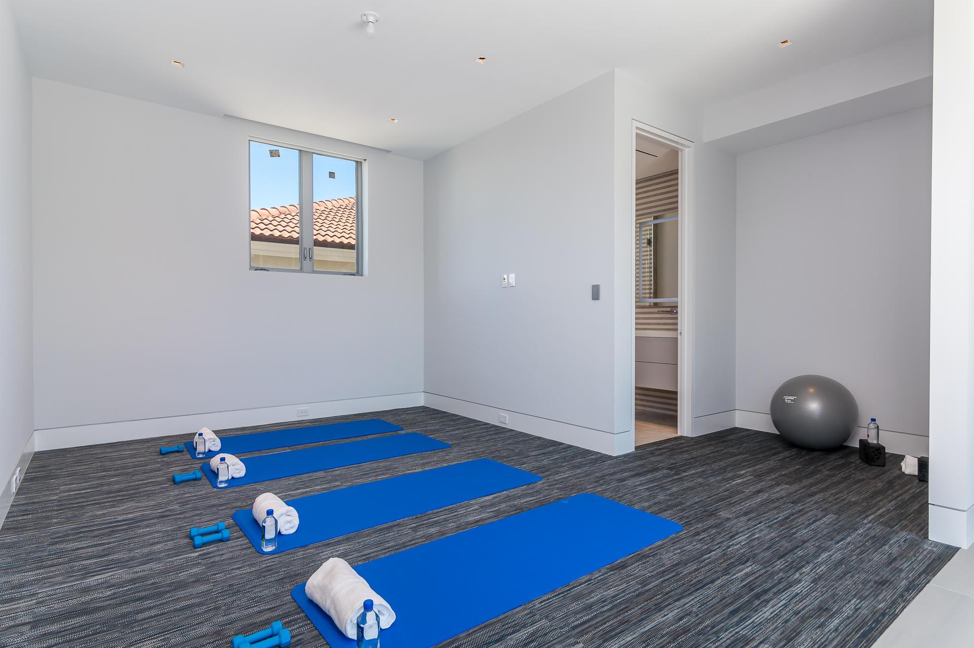 Gym with custom rubber flooring