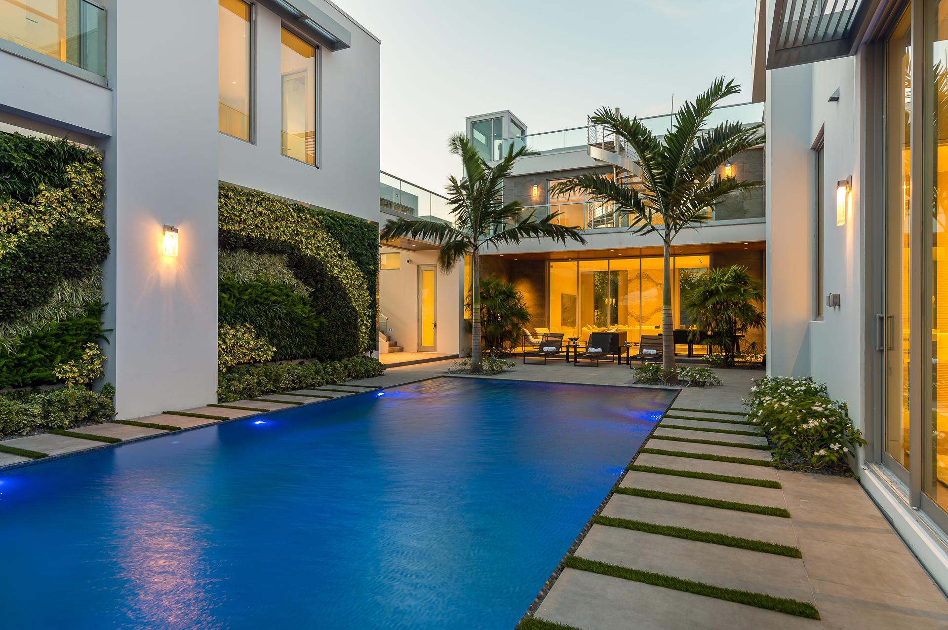 Living Wall and Infinity Pool