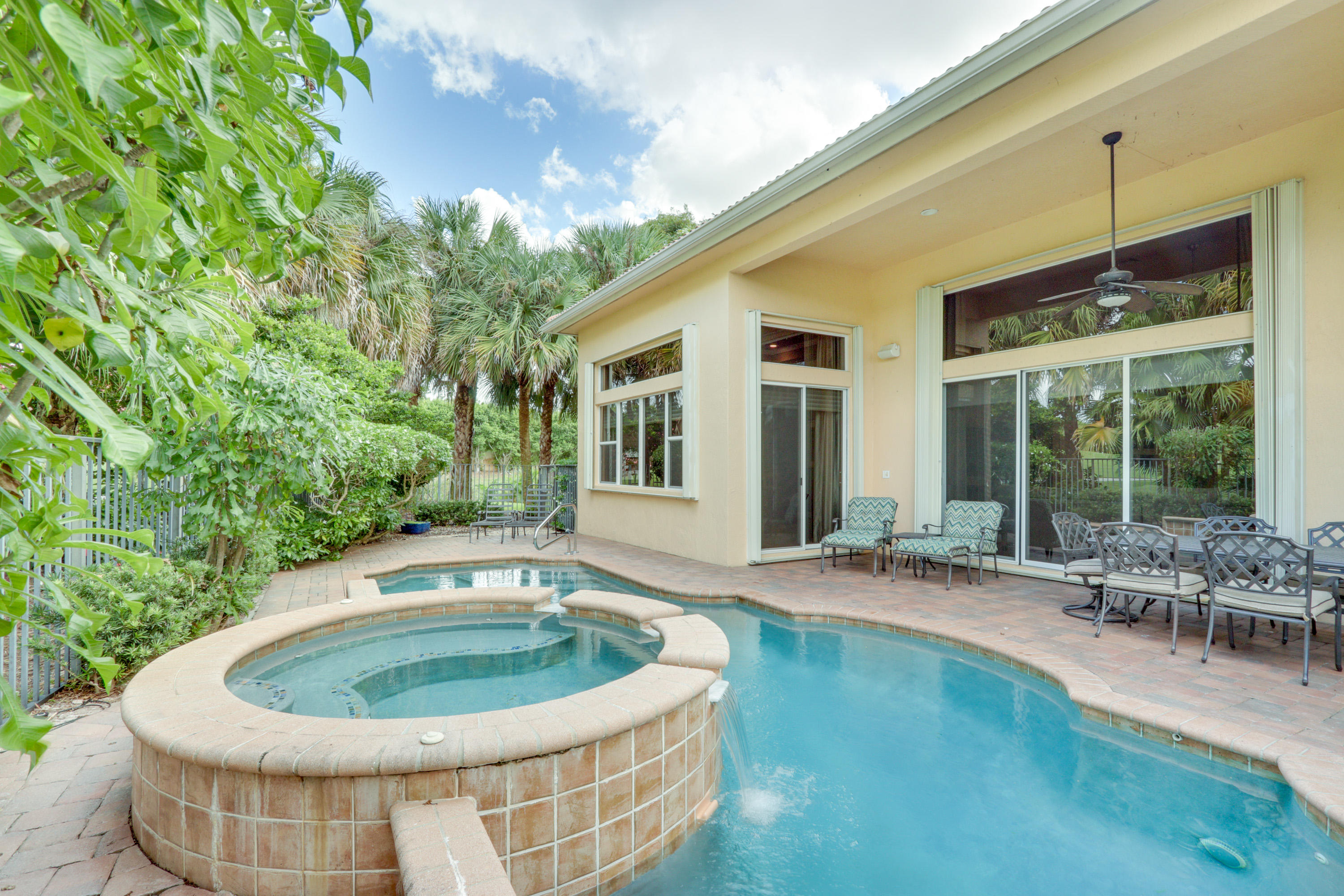 Raised Spa and Covered Patio