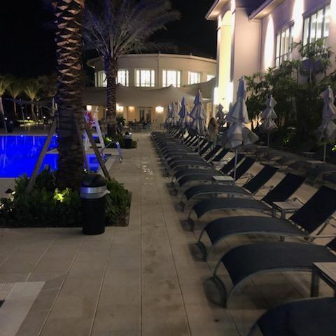 Clubhouse Patio at Night