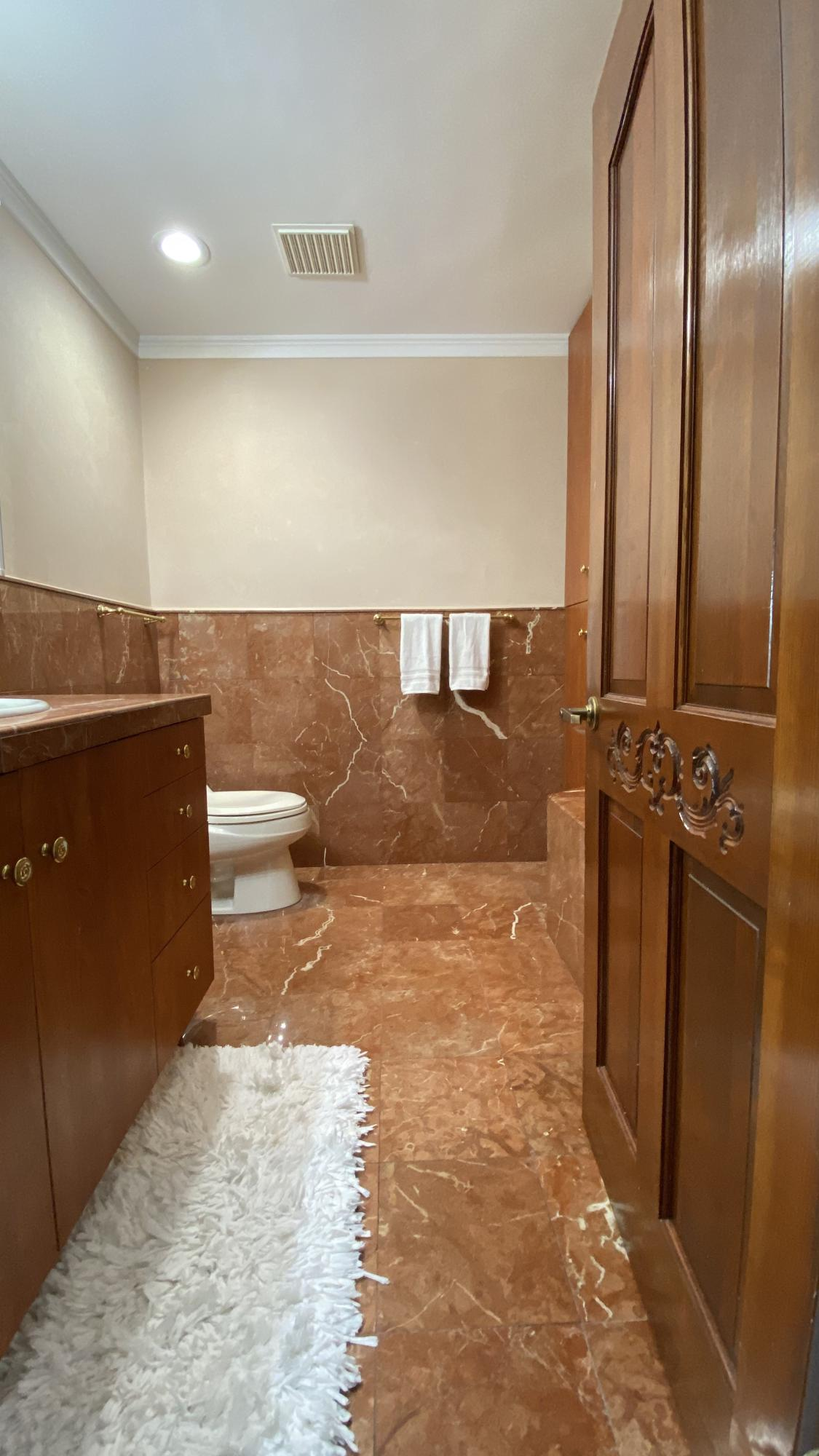 Italian marble 2nd floor bath