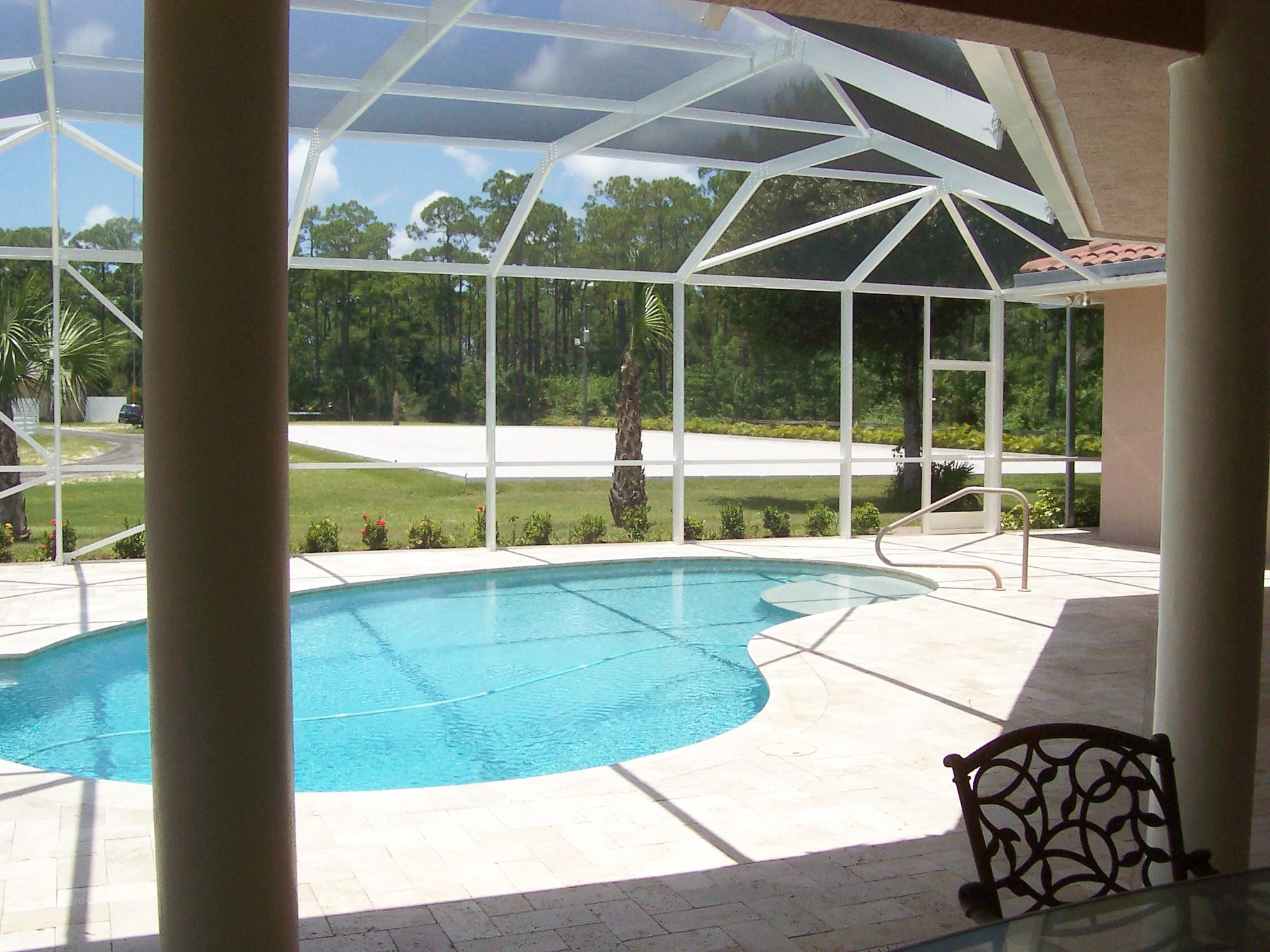 HEATED AND ENCLOSED  POOL