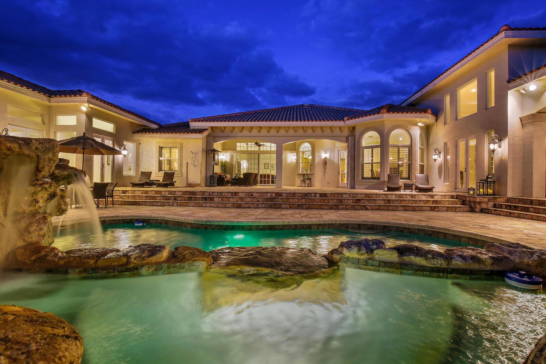 Pool & Patio Evening