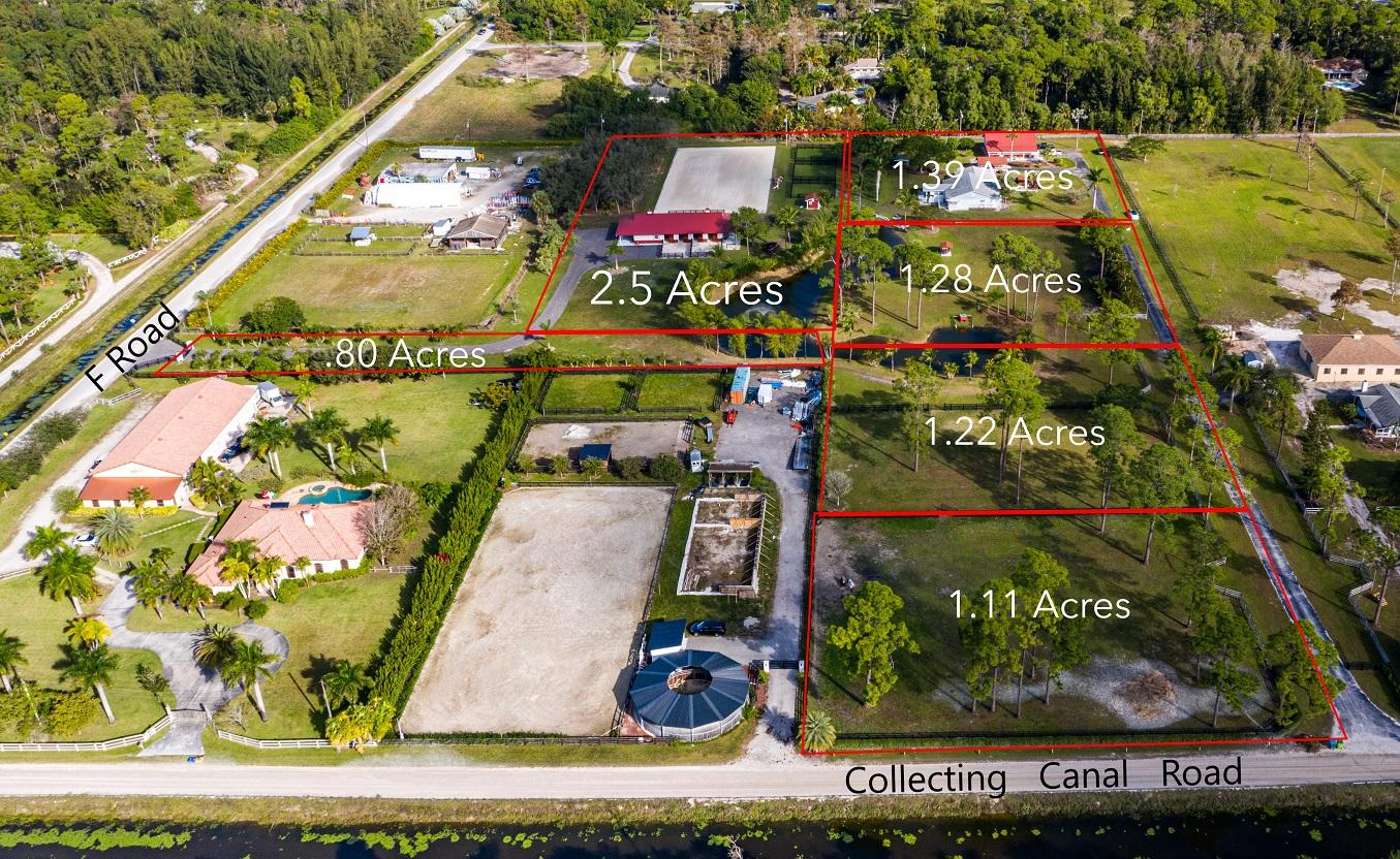 Arial Plat Map Outlined Acreage Main