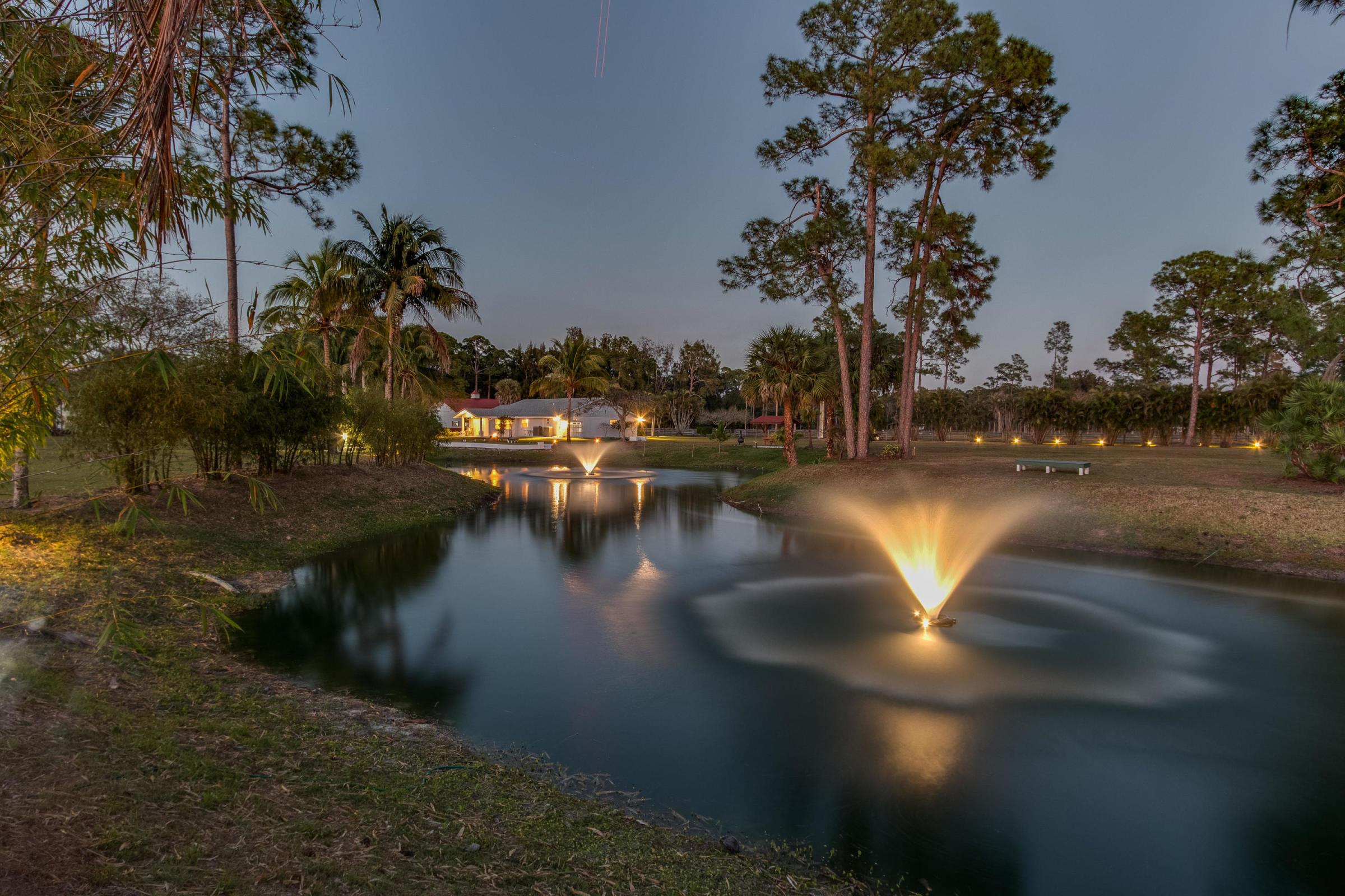 Twilight Pond Fountains