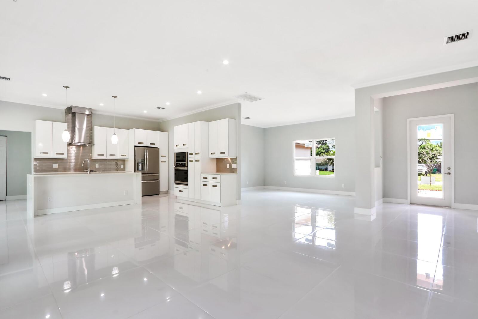 Open Concept Living Area - Kitchen