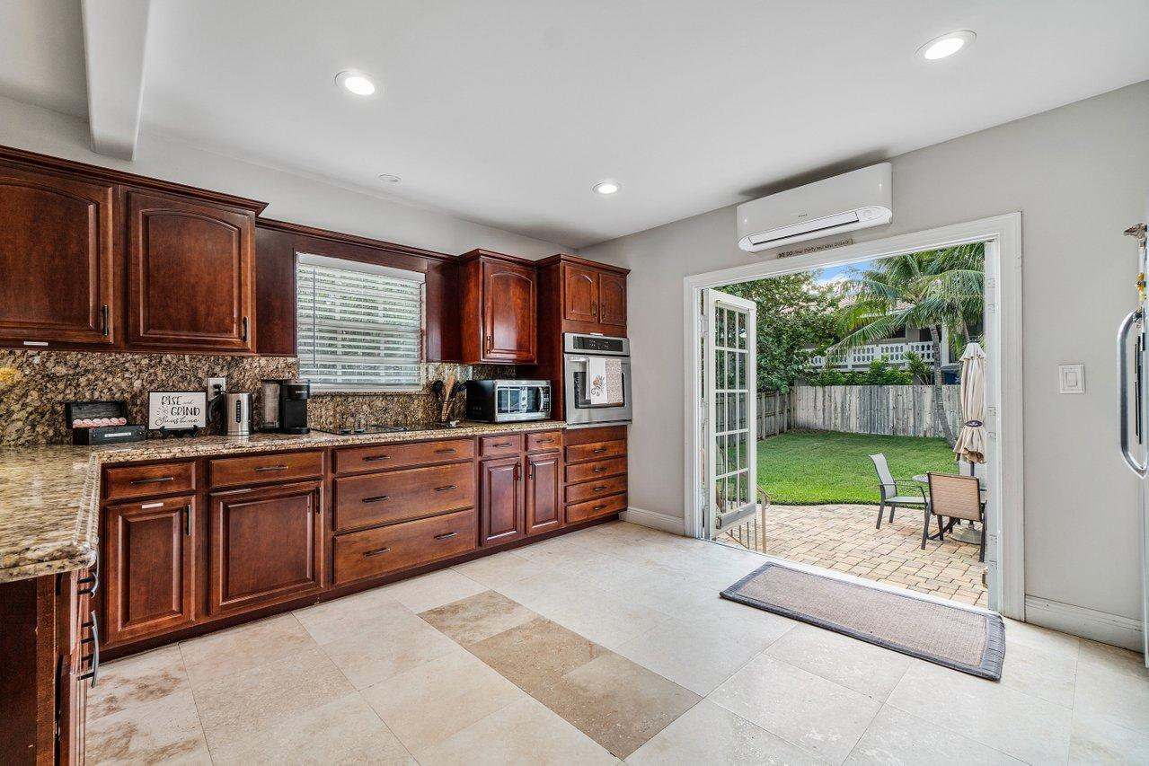 Kitchen with French Doors